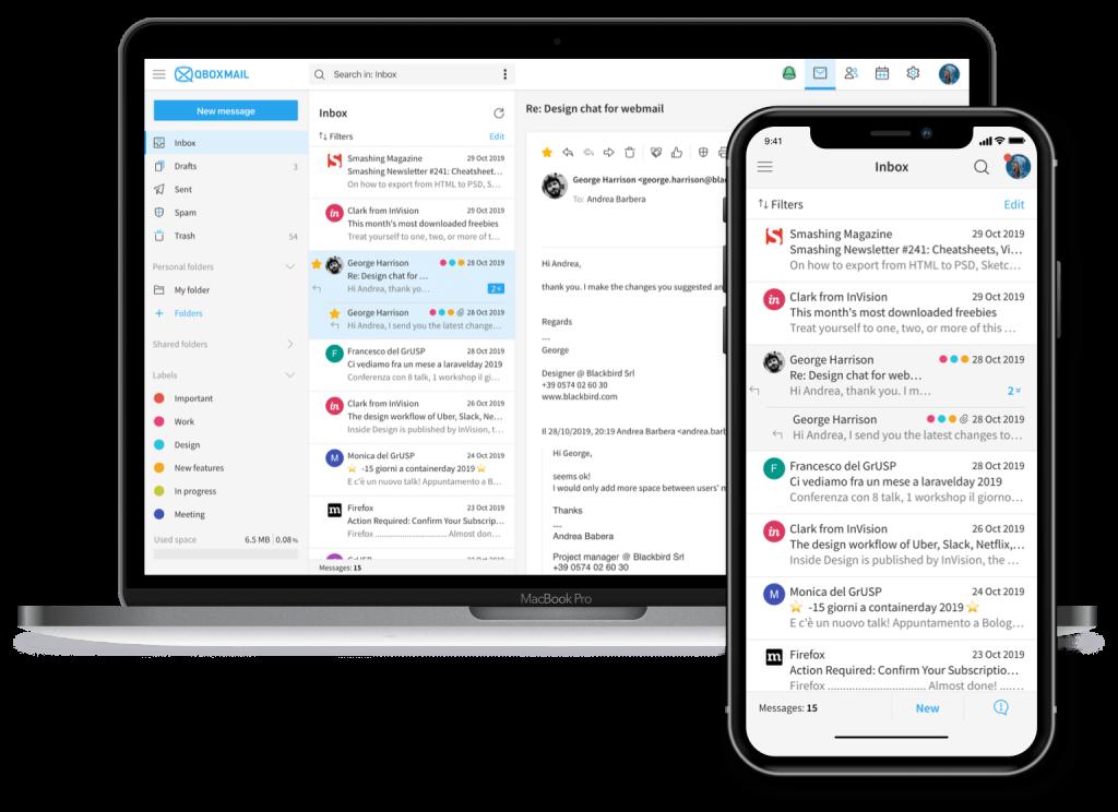 Webmail responsive
