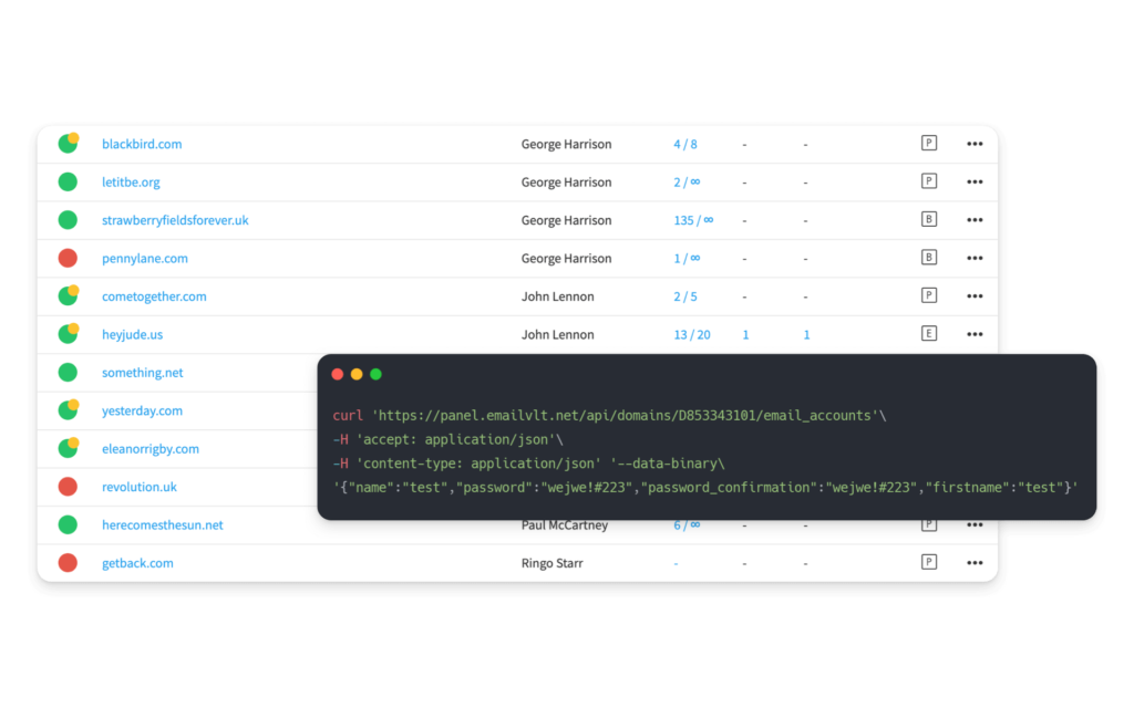 API e Pannello di Controllo Qboxmail