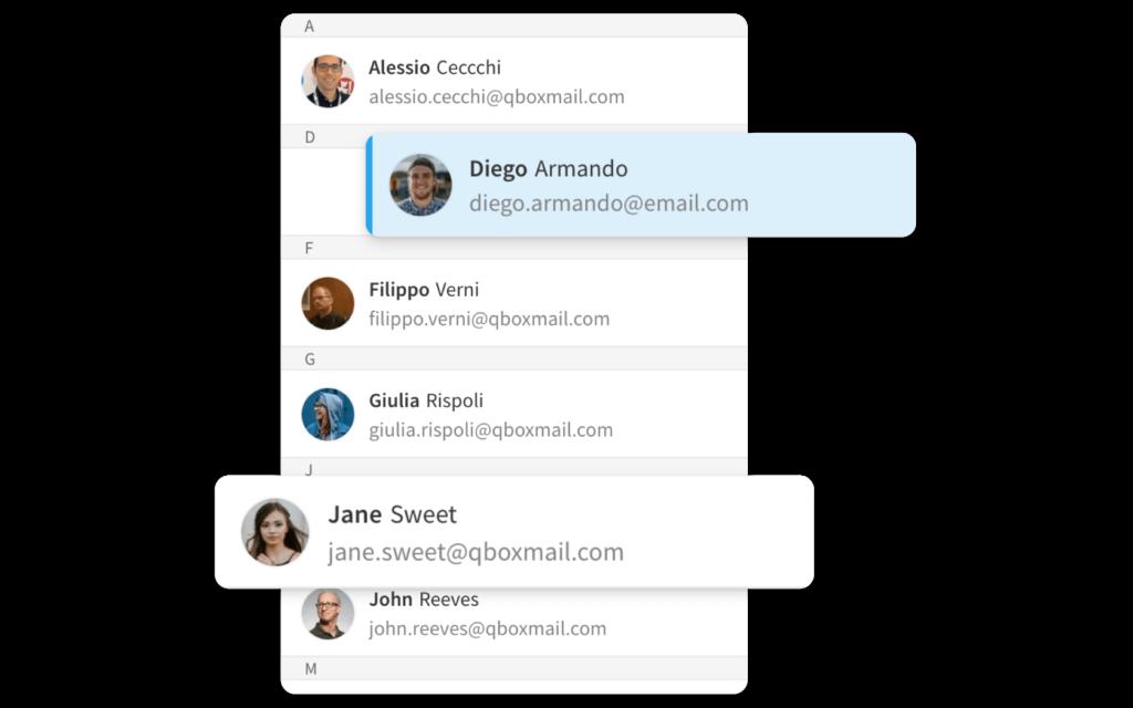 Webmail rubrica Qboxmail