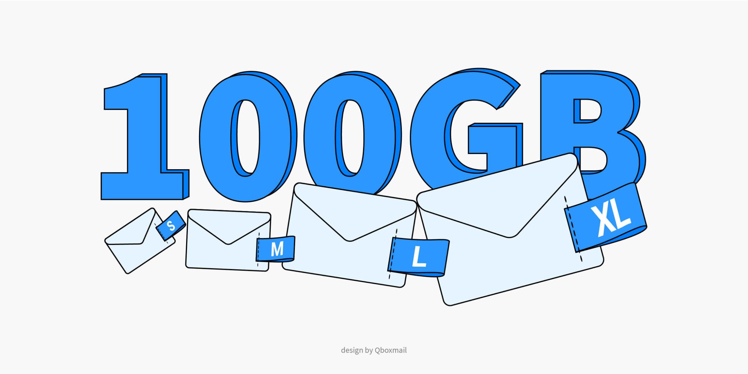 Caselle email da 100GB