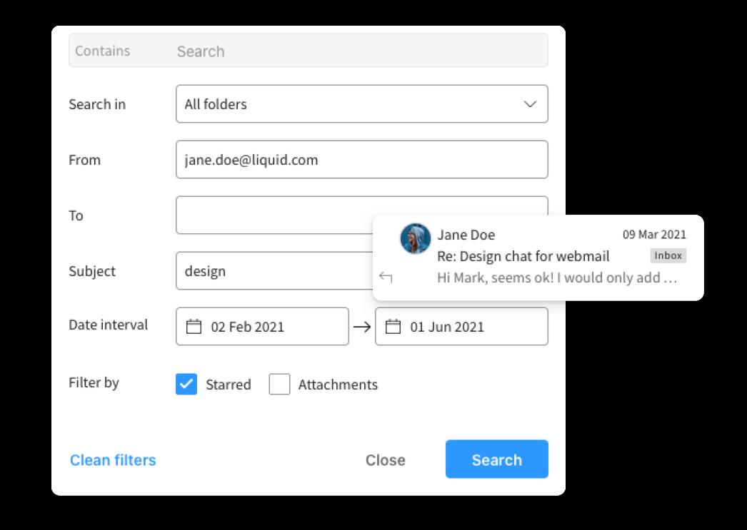 Motore di ricerca email Qboxmail